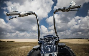 Picture Clouds, Bike, Freedom, Field, Mood, Rudder