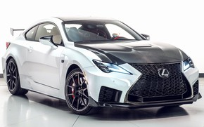 Picture car, machine, background, lights, tuning, Lexus, white, carbon, drives, front, tuning, coupe, Track Edition, the …