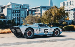 Picture trees, transport, building, car, 1966 Ford GT40 MkII