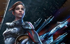 Picture space, mass effect, mass effect andromeda, Sarah Ryder, Сара Райдер