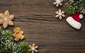 Picture cookies, Christmas, sweets, New year, tree, Happy New Year, Christmas, New Year, Happy Christma