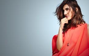 Picture girl, eyes, smile, beautiful, model, lips, face, hair, indian, actress, celebrity, bollywood, makeup, Vaani kapoor