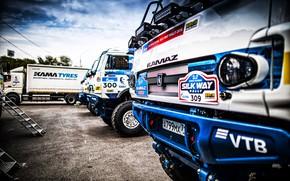 Picture Auto, Sport, Machine, Truck, Master, Lights, Russia, 300, 2018, Kamaz, Rally, KAMAZ-master, Rally, KAMAZ, The ...