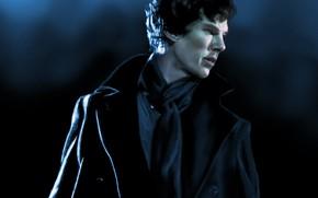 Picture painting, Sherlock Holmes, coat, Benedict Cumberbatch, Sherlock, Sherlock BBC, Sherlock Holmes, Sherlock (TV series), by …