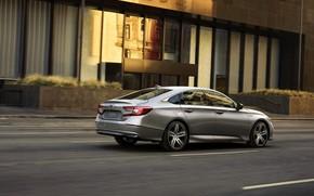 Picture street, Honda, Accord, sedan, Hybrid, hybrid, Touring, four-door, 2020, 2021