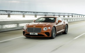 Picture bridge, coupe, speed, Bentley, 2019, Continental GT V8