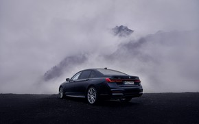 Picture clouds, BMW, back, sedan, G12, 2020, 7, 7-series, 2019, 745Le xDrive