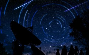 Picture space, night, nature, people, fiction, electronic telescopes