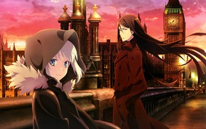 Picture girl, the city, guy, two, gray, tagme (artist), lord el-melloi ii, lord el-melloi ii case …