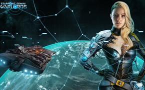 Picture space, fantasy, game, science fiction, spaceship, planet, digital art, artwork, cyborg, Starpoint Gemini Warlords