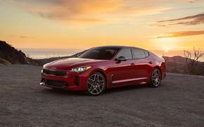 Picture landscape, dawn, turbo, sedan, Kia, 2022, Stinger GT, Kia Stinger