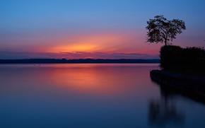 Picture lake, Germany, Bayern, glow