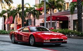 Picture Red, Auto, Machine, Ferrari, Ferrari, Sports car, 1986, Testarossa, F512 M, 512 TR, Ferrari Testarossa, …