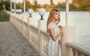 Picture girl, pretty, blonde, pose, A Diakov George