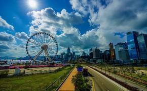 Picture morning, Hong Kong, the sky, Hong Kong, clouds