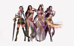 Picture Girl, Fantasy, Sexy, Art, Asian, Style, Girls, Background, Minimalism, Sword, Characters, Dress, Swords, Jianyachi L