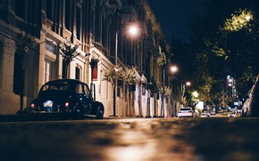 Picture City, Cars, Night, Street