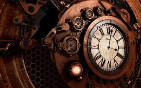 Picture arrows, graphics, watch, mechanism, figures