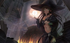 Picture Girl, Hat, Witch