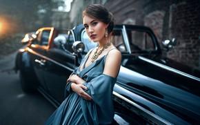 Picture machine, look, girl, hair, dress, hairstyle, Max Kuzin