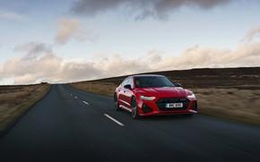 Picture road, Audi, plain, RS 7, 2020, UK version, RS7 Sportback
