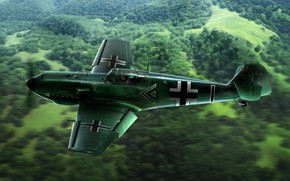 Picture Germany, Fighter, Messerschmitt, Emil, Bf.109E-3, Bavarian Aircraft Works, Bf-109E, The DB 601A engine