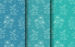 Picture flowers, background, blue, pattern, background