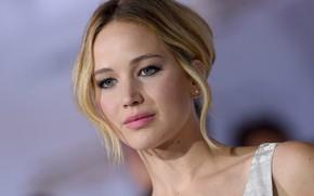 Picture look, pose, makeup, actress, look, pose, actress, Jennifer Lawrence, Jennifer Lawrence