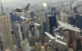Picture the city, New York, aircraft, parade