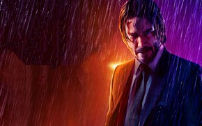 Picture rain, Keanu Reeves, Keanu Reeves, Parabellum, John Wick, Chapter 3, Dean PEC