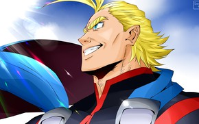 Picture smile, male, blonde, Almighty, My Hero Academia, Boku No Hero Academy, My Hero Academy