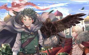 Wallpaper bird, Boku no Hero Academy, Midori Isuku, My heroic academia, Bakuga Katsuki, Isuku Midori