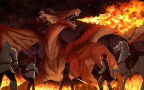 Picture dragon, horse, villain, heroes, My Hero Academia, Boku No Hero Academy, My Hero Academy