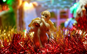 Picture winter, light, lights, holiday, angel, Christmas, New year, tinsel, figure, bokeh, Christmas decorations, Christmas decorations, …