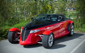 Picture red, Roadster, sports car, Chrysler Corporation, Plymouth Prowler