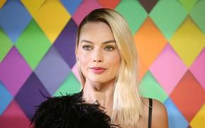 Picture look, makeup, actress, blonde, look, blonde, actress, Margot Robbie, Margot Robbie
