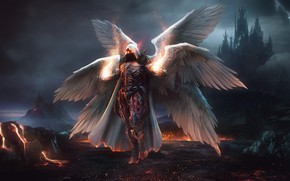 Picture wings, angel, dark, armor, armor, wings, angel, Seraphim, seraphim