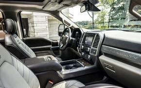 Picture Ford, interior, salon, pickup, 4x4, 2018, 440 HP, Super Duty, F-450, Limited, V8, 6.7 L., …