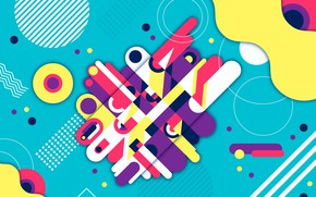 Wallpaper abstraction, background, colorful, geometry, Abstract, background, rounded, shapes, Geometric