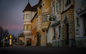 Picture the city, street, building, home, morning, Austria, Mauthausen