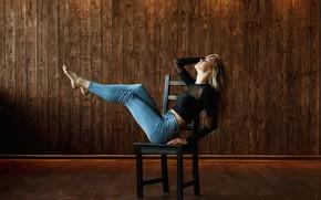 Picture pose, Girl, jeans, sitting, Alex Polish, Katerina Catalini