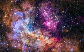 Picture space, stars, galaxy