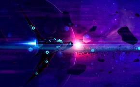 Picture Stars, Neon, Planet, Space, Nebula, Bike, Fantasy, Art, Stars, Space, Blik, Art, Spaceship, Planet, Fiction, …