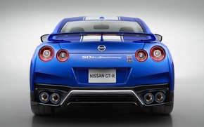 Picture Lights, Blue, Sports car, Back, 50th Anniversary Edition, Japan Car, 2020 Nissan GT-R