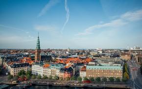 Picture building, Denmark, street, Copenhagen