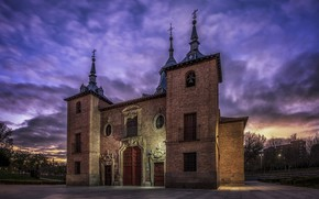 Picture night, the city, Madrid, Hermitage of the Virgin of the Port