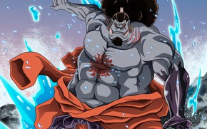 Picture being, fangs, One Piece, Jinbe