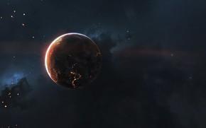 Picture Stars, Planet, Space, Nebula, Stars, Space, Planet, Hearth, Vadim Sadovski, by Vadim Sadovski