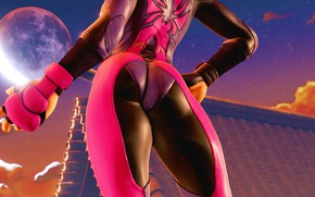 Picture ass, rendering, feet, body, ass, Street Fighter, Juri Han, juri