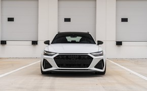 Picture Audi, Front, White, Face, Before, RS6, Brutal